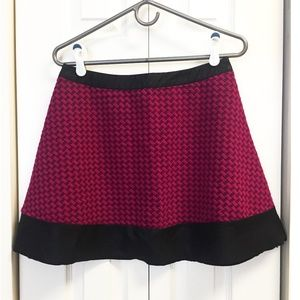 Candie's Hot Pink Houndstooth Skirt